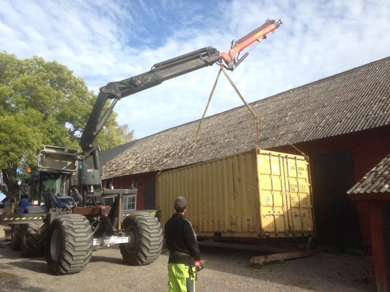 Huddig Palfinger kran container