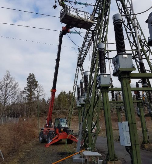 linjejobb optokabel skylift kraftledning PTG